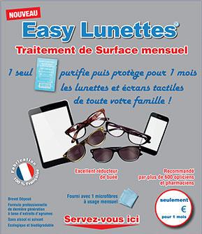 nettoyage et protection de vos verres de lunettes vitrines vitrages de magasin boutique avec le concept Easy Lunettes®